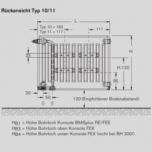 Buderus Heizkörper VC-Plan 30/300/1400, L