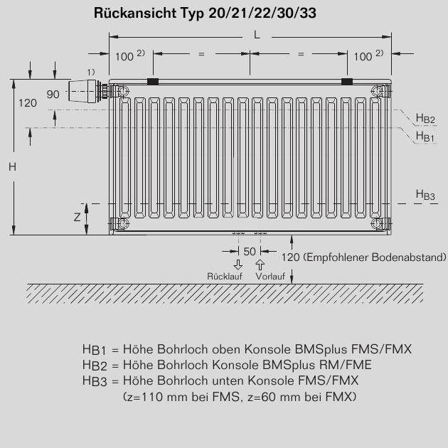 buderus heizk rper vcm profil 21 600 1000 r online kaufen. Black Bedroom Furniture Sets. Home Design Ideas